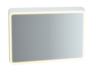 61660 - Sento Aydınlatmalı Ayna, 100 cm, Mat Beyaz