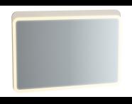 61661 - Sento Aydınlatmalı Ayna, 100 cm, Mat Krem