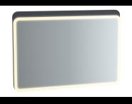 61662 - Sento Aydınlatmalı Ayna, 100 cm, Mat Antrasit