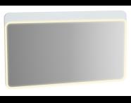 61663 - Sento Aydınlatmalı Ayna, 120 cm, Mat Beyaz