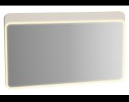 61664 - Sento Aydınlatmalı Ayna, 120 cm, Mat Krem
