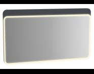 61665 - Sento Aydınlatmalı Ayna, 120 cm, Mat Antrasit