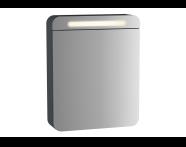 61668 - Sento Aydınlatmalı Dolaplı Ayna, 50 cm, Mat Antrasit, sol