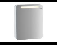 61669 - Sento Aydınlatmalı Dolaplı Ayna, 50 cm, Mat Beyaz, sağ