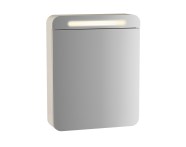 61670 - Sento Aydınlatmalı Dolaplı Ayna, 50 cm, Mat Krem, sağ