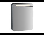 61671 - Sento Aydınlatmalı Dolaplı Ayna, 50 cm, Mat Antrasit, sağ