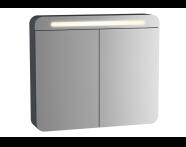 61674 - Sento Aydınlatmalı Dolaplı Ayna, 60 cm, Mat Antrasit, sol