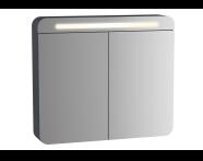 61677 - Sento Aydınlatmalı Dolaplı Ayna, 60 cm, Mat Antrasit, sağ