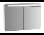 61682 - Sento Aydınlatmalı Dolaplı Ayna, 100 cm, Mat Krem