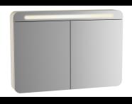 61683 - Sento Aydınlatmalı Dolaplı Ayna, 100 cm, Mat Antrasit