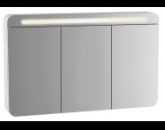 61684 - Sento Aydınlatmalı Dolaplı Ayna, 120 cm, Mat Beyaz
