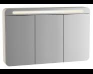 61685 - Sento Aydınlatmalı Dolaplı Ayna, 120 cm, Mat Krem