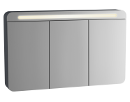61686 - Sento Aydınlatmalı Dolaplı Ayna, 120 cm, Mat Antrasit