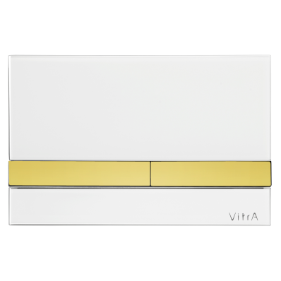 Select Mechanical Control Panel Glass White with Gold