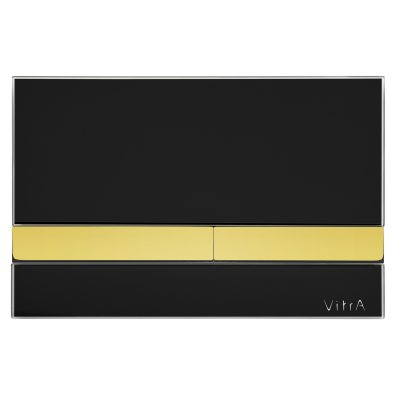 Select Mechanical Control Panel Glass Black with Gold