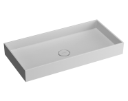 89005 - Memoria Rectangular Countertop Basin 80 cm
