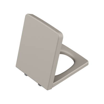 Frame Toilet Seat, Soft Closing, Top Fixing, Matte Taupe