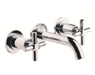 A40860VUK - Uno Wall-Mounted 3 Hole Basin Mixer