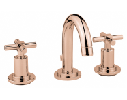 A4087726EXP - Juno Basin Mixer, For 3-Hole Basins-With Pop-Up, Copper