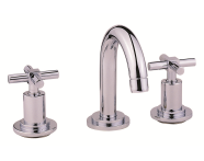 A40877VUK - Uno 3-Hole Basin Mixer with Pop-Up Waste