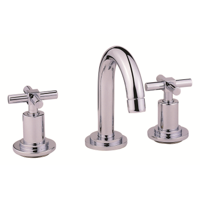 Uno 3-Hole Basin Mixer with Pop-Up Waste