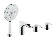 A41283VUK - T4 Deck-Mounted 4 Hole Bath/Shower Mixer (Including Handshower)