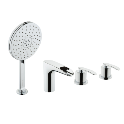 T4 Deck-Mounted 4 Hole Bath/Shower Mixer (Including Handshower)