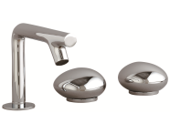 A41807VUK - Istanbul Pebble 3 Hole Basin Mixer, Chrome