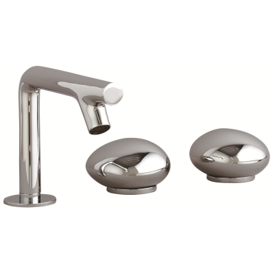 Istanbul Pebble 3 Hole Basin Mixer, Chrome