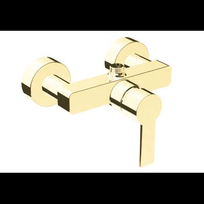 Flo S Shower Mixer,  Gold