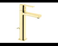 A4194223 - Flo S Lavabo Bataryası  (Sifon Kumandalı - Yüksek) , Altın
