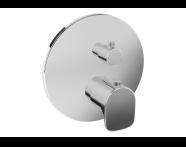 A42273 - X - Line Ankastre Termostatik Duş Bataryası (V-Box Sıva Üstü Grubu), Krom