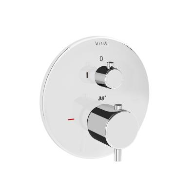 Pure Ankastre Termostatik Duş Bataryası (V-Box Sıva Üstü Grubu), Krom