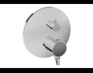 A42275 - Nest Trendy Ankastre Termostatik Duş Bataryası (V-Box Sıva Üstü Grubu), Krom