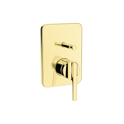 Suit Built-In Bath/Shower Mixer, Exposed Part, Gold