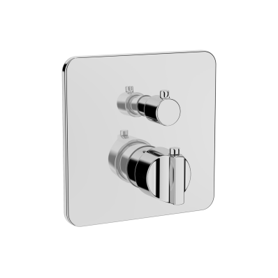 Suit Built-In Thermostatic Shower Mixer, V-Box-Exposed Part, Chrome
