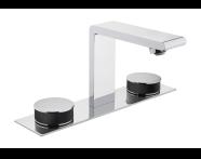 A4231558VUK - Memoria Basin Mixer, Round Handles, 3 Tap Hole