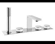 A4231657EXP - Memoria Bath Mixer (Deck Mounted)