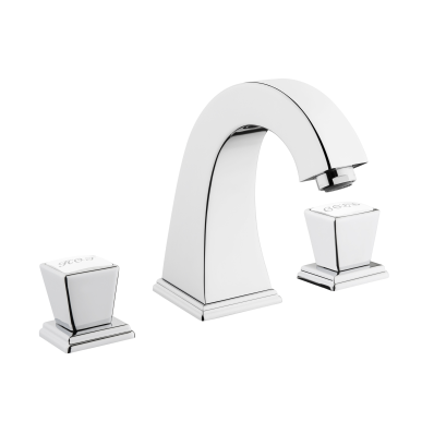 Elegance Basin Mixer, 3 Tap Hole, Chrome