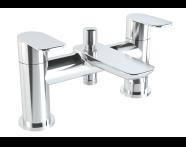A42414VUK - X-Line 2 Tap Hole Bath Shower Mixer