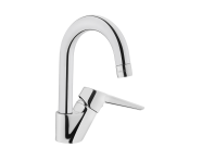 A42442VUK - Solid S Basin Mixer, (With Swivel Spout), Chrome