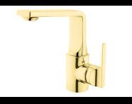 A4248023VUK - Suıt L Basin Mixer, (With Pop-Up), Gold