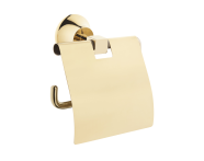 A4442223EXP - Juno Toilet Roll Holder (with Cover), Gold