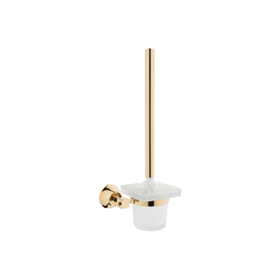 Juno WC Brush Holder, Gold