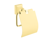 A4473523EXP - Elegance Roll Holder with cover - Gold