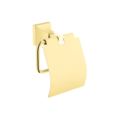 Elegance Roll Holder with cover - Gold