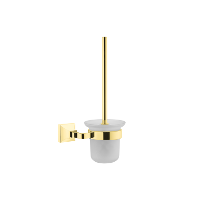 Elegance WC Brush Holder-gold