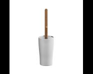 A4487457EXP - Eternity WC Brush Holder - White / Shinny Chrome