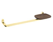 A4487923EXP - Eternity Long Towel Holder with Shelf - Gold