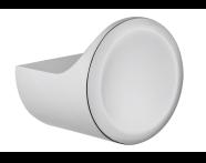 A44883 - Eternity Small Bathrobe Holder (Round) - Shinny Chrome